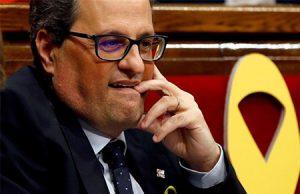 Quim Torra President de Catalunya en el Parlament