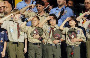 Saludo de Boy Scouts en Estado Unidos