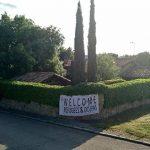 Welcome Refugees en el chalet de Pablo Iglesias e Irene Montero