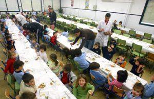 Comedor de un colegio en Andalucía