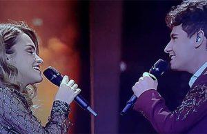 Alfred y Amaia en el festival de Eurovisión