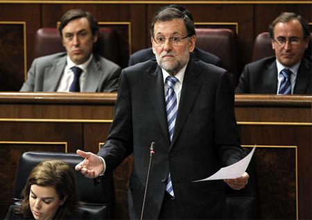 Mariano Rajoy en el Congreso de los Diputados hablando de funcionarios y pensionistas