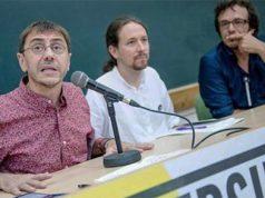 Juan Carlos Monedero, Pablo Iglesias y Kichi