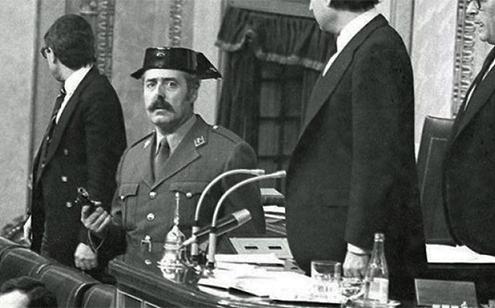 Antonio Tejero Molina en el Congreso de los Diputados