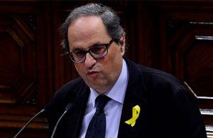 El separatista Quim Torra en el Parlament de Catalunya