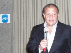 Sigfrid Soria en un acto del Partido Popular
