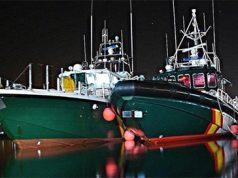 Barcos de la Guardia Civil en un puerto de las Islas Canarias