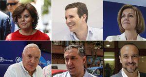 Candidatos para presidir el Partido Popular en las primarias