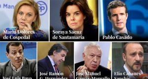 Los 7 candidatos para presidir el PP