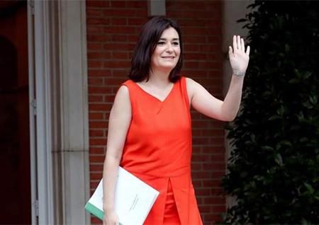 La Ministra de Sanidad Carmen Montón en el Palacio de La Moncloa