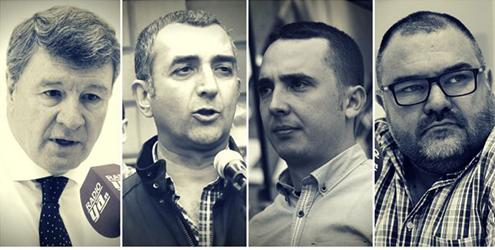 Rafael López Dieguez, Manuel Andrino, Pedro Chaparro, Norberto Pico