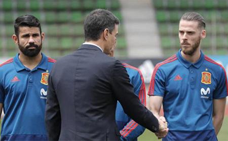 De Gea y Pedro Sánchez en la selección española de fútbol