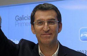Alberto Nuñez Feijoo en un acto político del Partido Popular