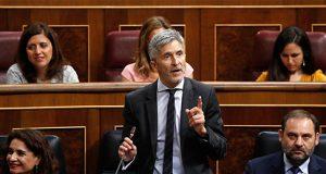 Grande Marlaska hablando en el Congreso de los Diputados