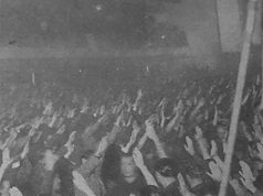 Mitin de Jose Antonio Primo de Rivera en el Cine Madrid. Falange Española