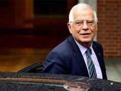 Josep Borrell entrando en el Palacio de La Moncloa en un consejo de ministros