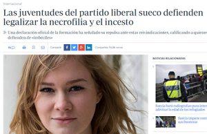 El partido liberal sueco pide legalizar el incesto y la necrofilia