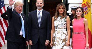 Letizia, Felipe VI, Donald Trump y Melania Trump