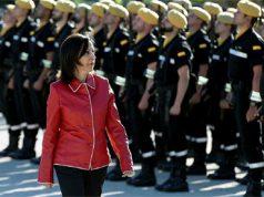 Margarita Robles en uno de sus primeros actos como ministra de Defensa
