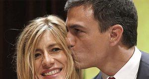 Pedro Sánchez con su mujer Begoña