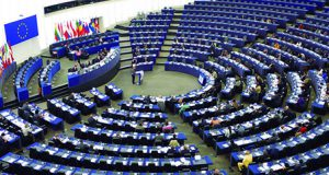 Eurodiputados en el Parlamento Europeo