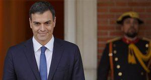 El Presidente del Gobierno Pedro Sanchez recibe en el Palacio de la Moncloa al Presidente Ucrania