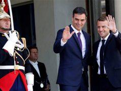 El socialista Pedro Sánchez con Macron en Francia