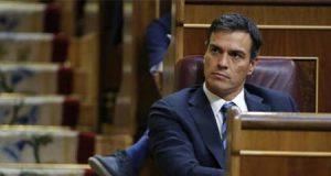 El socialista Pedro Sánchez en una sesión de control al Gobierno