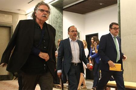 Separatistas de ERC, PDCAT y PNV en el Congreso de los diputados