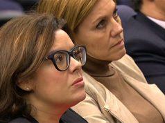 Soraya y Cospedal en un acto político del Partido Popular