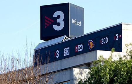 Sede de TV3 con el logo