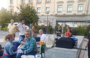 familias desalojadas del Hogar Social Madrid