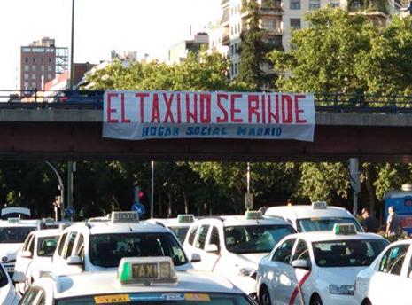 Hogar Social Madrid defiende a los taxistas
