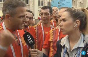 María Gómez de Mediaset llamando pibones a los futbolistas de Marruecos