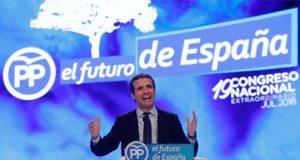 Pablo Casado en el Congreso del Partido Popular y elegido Presidente del PP