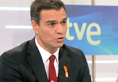 Pedro Sánchez en RTVE