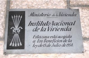 Placa Ministerio de la Vivienda