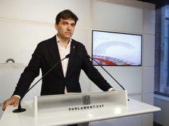 sabría en el Parlament de Catalunya con los medios de comunicación