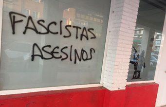 sede de España2000 en Alcalá de Henares atacada