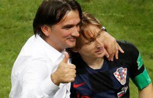 seleccionador de Croacia junto Luka Modric