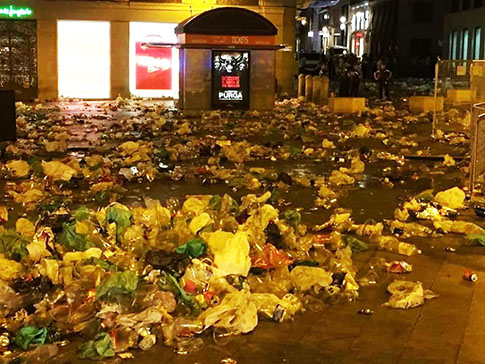 Basura del Orgullo Gay en Madrid