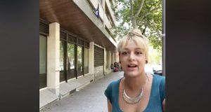 Melisa Dominguez Ruiz explica a los medios el motivo de la nueva ocupación de Hogar Social Madrid