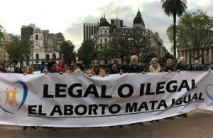 Manifestación provida en Argentina