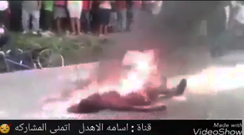 Mujer que quemada viva por musulmanes