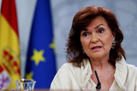 ministra socialista de Pedro Sánchez, la socialista Carmen Calvo