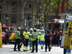 Se derrumba el Hotel Ritz. Obreros heridos y un muerto en el Hotel Ritz