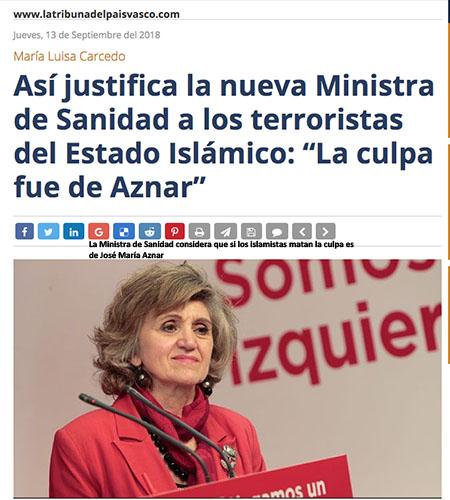 Maria Luisa Carcedo - Ministra de Sanidad socialista de Pedro Sánchez