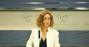 Meritxell Batet en el Congreso de los Diputados