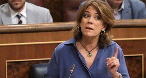 La Ministra socialista Dolores delgado en el Congreso de los Diputados