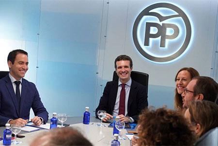 Pablo Casado en el Comité de Dirección del Partido Popular